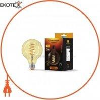 LED лампа VIDEX Filament G95FASD 5W E27 2200K 220V диммерная