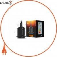 Cветильник подвесной декоративный VIDEX Е27 1,1м Металл черный