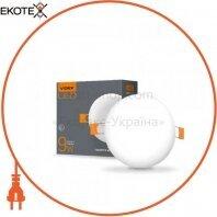 LED светильник безрамочный круглый VIDEX 9W 4100K 220V 20 шт/ящ