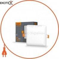 LED светильник безрамочный квадратный VIDEX 9W 4100K 220V 20 шт/ящ