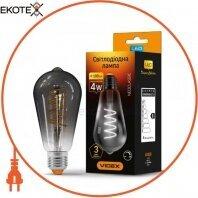 LED лампа VIDEX Filament ST64FGD 4W E27 2100K 220V