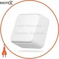 VIDEX BINERA Выключатель наружный 1кл белый (VF-BNS11-W) (12/120)