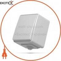 VIDEX BINERA IP65 Выключатель наружный 1кл серый (VF-BNW11-G) (10/100)