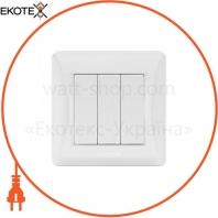 VIDEX BINERA Выключатель 3кл белый (VF-BNSW3-W) (20/120)