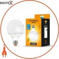 LED лампа VIDEX G95e 15W E27 3000K 220V 20шт/ящ