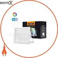 LED Смарт прожектор VIDEX 10W RGB Wi-fi 3000-6500 220V White 5 шт/ящ