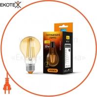 LED лампа VIDEX A60FA 10W E27 2200K 220V бронза