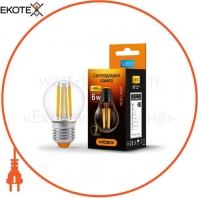 LED лампа VIDEX G45F 6W E27 3000K 220V