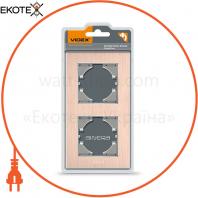 VIDEX BINERA Рамка медный алюминий 2 поста вертикальная (VF-BNFRA2V-CP) (6/48)