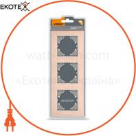 VIDEX BINERA Рамка медный алюминий 3 поста вертикальная (VF-BNFRA3V-CP) (6/48)