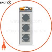 VIDEX BINERA Рамка серебристый алюминий 3 поста вертикальная (VF-BNFRA3V-SL) (6/48)