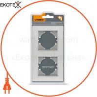 VIDEX BINERA Рамка серебристый алюминий 2 поста вертикальная (VF-BNFRA2V-SL) (6/48)