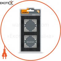 VIDEX BINERA Рамка черный алюминий 2 поста вертикальная (VF-BNFRA2V-B) (6/48)