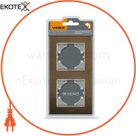 VIDEX BINERA Рамка шоколадный алюминий 2 поста вертикальная (VF-BNFRA2V-CH) (6/48)