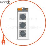VIDEX BINERA Рамка белое стекло 3 поста вертикальная (VF-BNFRG3V-W) (6/48)