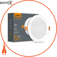 LED светильник Back круглый VIDEX 6W 5000K 220V