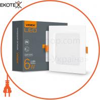 LED светильник Back квадрат VIDEX 6W 5000K 220V