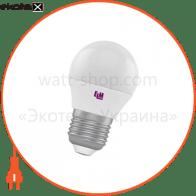 Лампа светодиодная шар PA10L 7W E27 3000K алюмопласт. корп. 18-0115