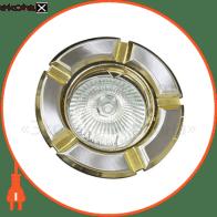Встраиваемый светильник Feron 098 R-50 титан золото 17630