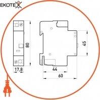Enext i0250001 независимый расцепитель e.industrial.acs.za.230, 110-415в