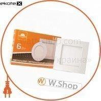 Светильник точечный врезной евросвет 6Вт квадрат LED-S-120-6 6400К