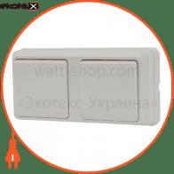 Блок - 2 одноклав. выключателя 2ВЗ10-10-Cb-W арт. 2ВЗ10-10-Cb-W
