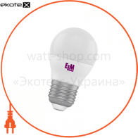 Лампа светодиодная шар PA10 6W E27 4000K алюмопласт. корп. 18-0051