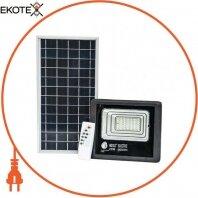 Прожектор на солнечной панели SMD LED 25W 465Lm 6400K IP65 черный