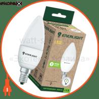лампа світлодіодна enerlight с37 6вт 3000k e14 светодиодные лампы enerlight Enerlight C37E146SMDWFR