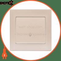 Кнопка звонка 703-3030-103 Цвет Жемчужно-белый металлик 10АХ 250V~