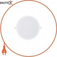 Светильник встраиваемый LED 16W 6400K 950Lm 165-260V d-121мм белый круг.