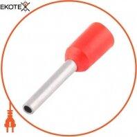 Изолированный наконечник втулочный e.terminal.stand.e0306.red 0.25 кв.мм, красный