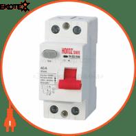 Дифференциальный автоматический выключатель 2Р 40А 30mA 230V