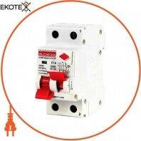 Выключатель дифференциального тока (дифавтомат) e.elcb.stand.2.C16.30, 2р, 16А, C, 30мА с разделенной рукояткой