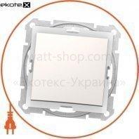Sedna Переключатель 1 полюсный 10AX, IP44 без рамки кремовый