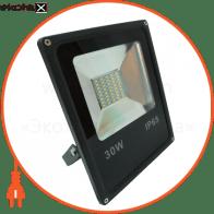 LED Прожектор 30W 6500К черний