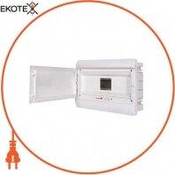 Корпус пластиковый, встраиваемый (PT) 9-модульный, однорядный, IP 30 с непрозрачной дверкой