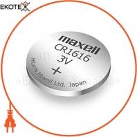 "Литиевая батарейка Japan Maxell Сard ""таблетка"" CR1616 5шт / уп"