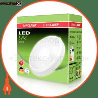 eurolamp led светильник круглый накладной жкх 6w 4000k светодиодные светильники eurolamp Eurolamp LED-NLR-6/4(F)
