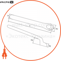 p0470015 Enext изолированный инструмент ключ ізольований накидний e.insulating.ring.spanner.40319, 19мм