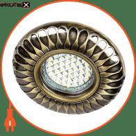 Встраиваемый светильник Feron DL6047 античное золото 30132
