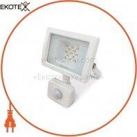 Светодиодный прожектор Velmax LED 10Вт 6200K 900Lm 220V IP65 с датчиком движения (00-25-13) белый