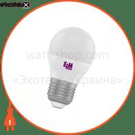 Лампа светодиодная шар PA10L 6W E27 3000K алюмопласт. корп. 18-0134
