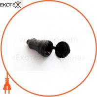 Штепсельный разъем ERKA 5001, с заглушкой 1х16 (каучук)