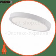 Светильник накладной. круг, корпус металл d-300mm ip 20 SMD LED 28W 6400К 1960Lm, цвет - белый (220-240v)
