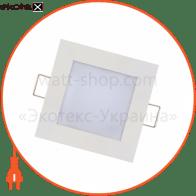 Панель встроенная LED 3W 2700K 110Lm 165-260V 89мм. квадратная белая