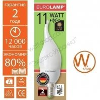 candle flame 11w 2700k e14 энергосберегающие лампы eurolamp Eurolamp