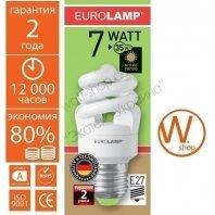 t2 spiral  7w e27 2700k энергосберегающие лампы eurolamp Eurolamp ES-07272