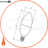 "LED-CL-08144(D) Eurolamp светодиодные лампы eurolamp eurolamp led лампа еко серія ""d"" cl 8w e14 4000k (50)"