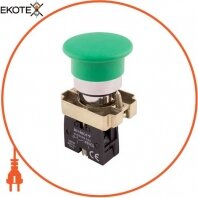 Кнопка грибок e.mb.bc31 без фіксації зелена, 1NO